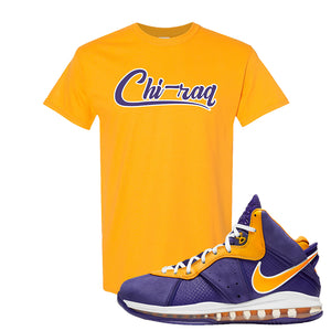 Lebron 8 Lakers T Shirt | Chiraq, Gold