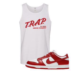 SB Dunk Low St. Johns Tank Top | Trap To Rise Above Poverty, White