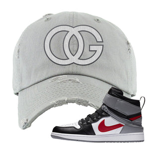 Air Jordan 1 Flyease Distressed Dad Hat | Light Gray, OG