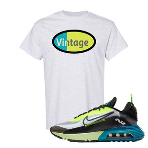 Air Max 2090 Volt T Shirt | Vintage Oval, Ash