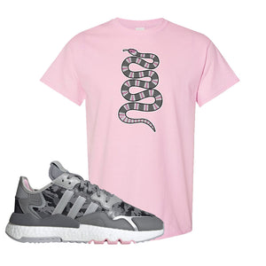 WMNS Nite Jogger True Pink Camo T Shirt | Light Pink, Coiled Snake