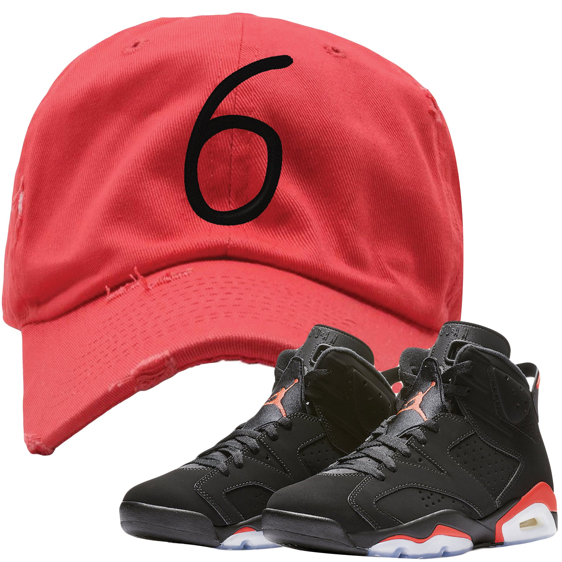 the latest 13ab3 d7383 Jordan 6 Infrared Sneaker Matching 6 Infrared Dad Hat