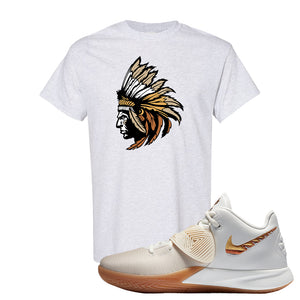 Kyrie Flytrap 3 Summit White T Shirt | Indian Chief, Ash