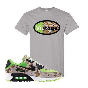 Air Max 90 Duck Camo Ghost Green T Shirt | Gravel, Vintage Oval