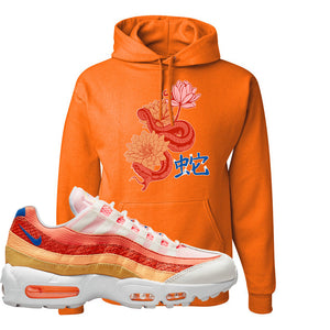 Air Max 95 Orange Snakeskin Hoodie | Snake Lotus, Orange