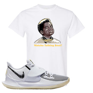Kyrie Low 3 T Shirt | White, Watchu Talking Bout