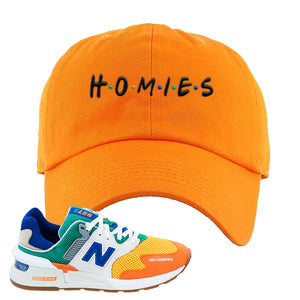 997S Multicolor Sneaker Orange Dad Hat | Hat to match New Balance 997S Multicolor Shoes | Homies