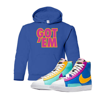 Blazer Mid Big Kids Hoodie | Royal, Got Em