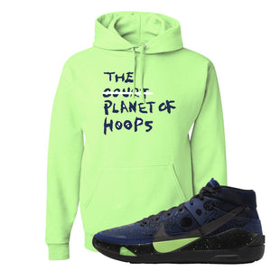 KD 13 Planet of Hoops Hoodie | Planet Of Hoops Lettering, Neon Green