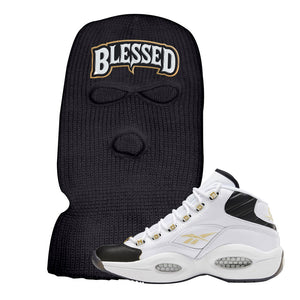 Question Mid Black Toe Sneaker Black Ski Mask | Winter Mask to match Reebok Question Mid Black Toe Shoes | Blessed Arch