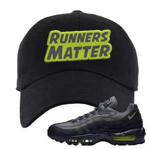 Air Max 95 Midnight Navy / Volt Dad Hat | Black, Runners Matter