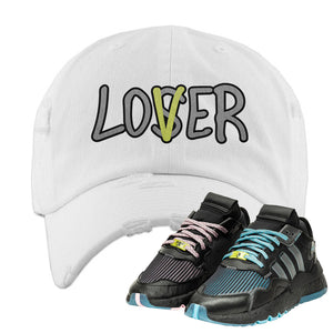 Ninja x adidas Nite Jogger Distressed Dad Hat | Lover, White