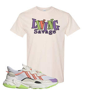 Ozweego Chaos T Shirt | Natural, Living Savage
