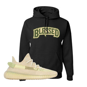 Yeezy 350 v2 Sulfur Hoodie | Black, Blessed Arch