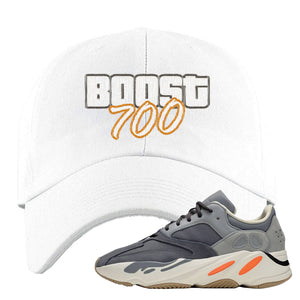Yeezy Boost 700 Magnet GTA Cover Lettering White Dad Hat