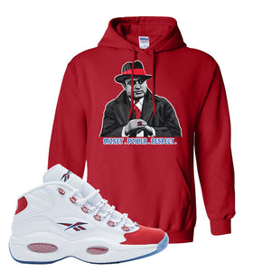 Question Mid OG Suede Toe Hoodie | Capone Illustration, Red