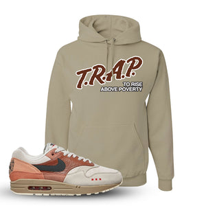 Air Max 1 Amsterdam City Pack Sneaker Khaki Pullover Hoodie | Hoodie to match  Nike Air Max 1 Amsterdam City Pack Shoes | Trap To Rise Above Poverty