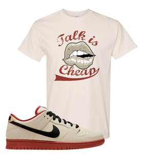 SB Dunk Low Muslin T Shirt | Talk Is Cheap, Natural