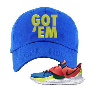 Kyrie Low 3 NY vs NY Dad Hat | Got Em, Royal Blue