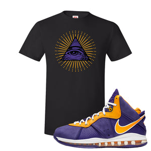 Lebron 8 Lakers T Shirt | All Seeing Eye, Black