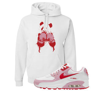 Air Max 90 Love Letter Hoodie | Boxing Panda, White
