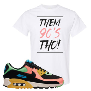 Furry Air Max 90 Bright Neon T Shirt | Them 90s Tho, White