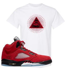 Air Jordan 5 Raging Bull T Shirt | All Seeing Eye, White
