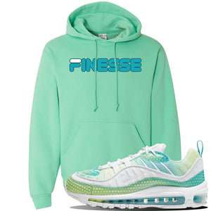WMNS Air Max 98 Bubble Pack Sneaker Cool Mint Pullover Hoodie | Hoodie to match Nike WMNS Air Max 98 Bubble Pack Shoes | Finesse