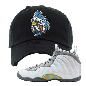 Lil Posite One Rainbow Pixel Distressed Dad Hat | Black, Indian Chief