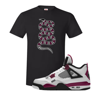 Air Jordan 4 PSG Paname T-Shirt | Coiled Snake, Black