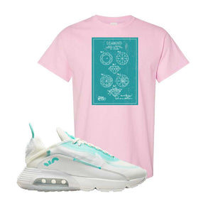Air Max 2090 Pristine Green T Shirt | Light Pink, Diamond Patent Sketch