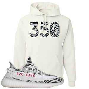 Yeezy Boost 350 V2 Zebra 350 White Sneaker Hook Up Pullover Hoodie