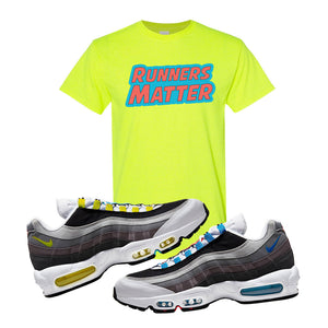 Air Max 95 QS Greedy T Shirt | Safety Green, Runners Matter