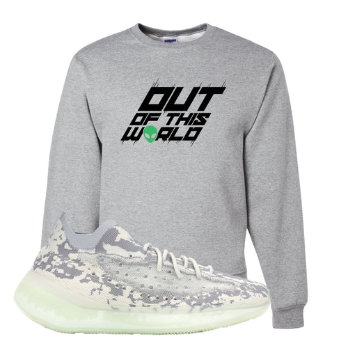 Yeezy Boost 380 Alien Outta This World Athletic Heather Sneaker Matching Crewneck Sweatshirt