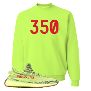 350 Safety Green Crewneck Sweatshirt to match Yeezy Boost 350 V2 Frozen Yellow Sneaker