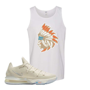 Lebron 17 Low Bone Tank Top | White, Indian Chief
