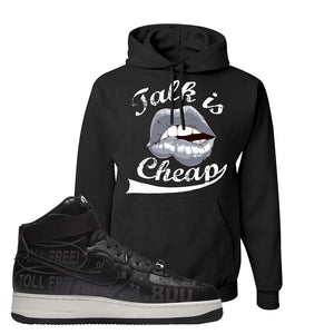 Air Force 1 High Hotline Hoodie | Talk Is Cheap, Black
