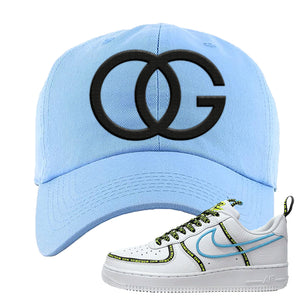 Air Force 1 '07 PRM 'Worldwide Pack' Dad Hat | Light Blue, OG