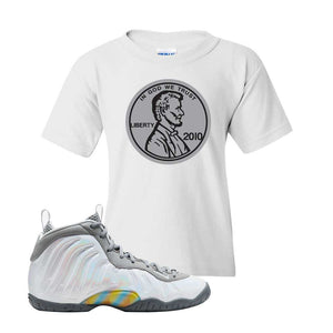 Lil Posite One Rainbow Pixel Kids T Shirt | White, Penny