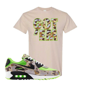 Air Max 90 Duck Camo Ghost Green T Shirt |Sand, Got Em