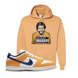 SB Dunk Low Laser Orange Hoodie | Old Gold, Escobar Illustration