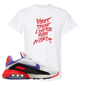 Air Max 2090 Evolution Of Icons T Shirt | Vibes Speak Louder Than Words, White