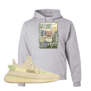 Yeezy Boost 350 V2 Flax Hoodie | Ash, Attack of the Bear