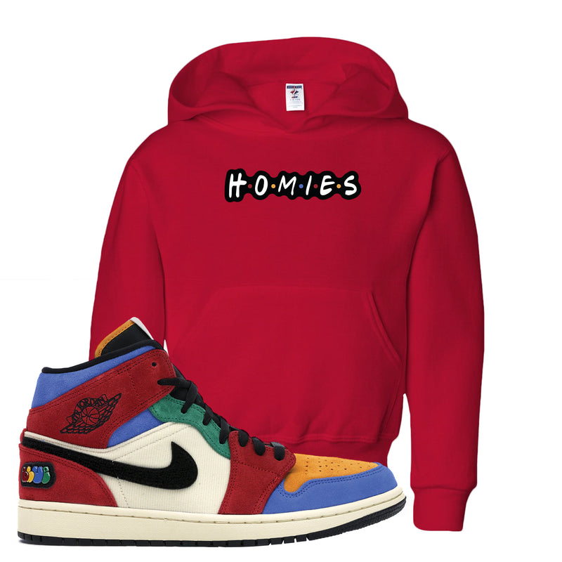 Jordan 1 X Blue The Great Kid's Hoodie | Red, Homies