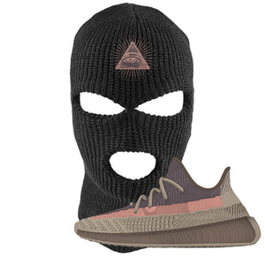 Yeezy 350 v2 Ash Stone Ski Mask | All Seeing Eye, Black