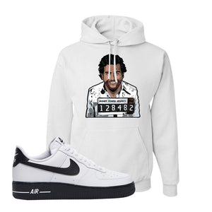 Air Force 1 Low White Black Hoodie | White, Escobar Illustration