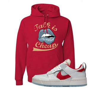 Dunk Low Disrupt Gym Red Hoodie | Talk Is Cheap, Red
