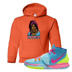 Kyrie 6 Pool Kids Pullover Hoodie | Oh My Goodness, Orange
