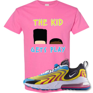 The Kid Gets Play Azalea T-Shirt to match Air Max 270 React ENG Laser Blue Sneakers