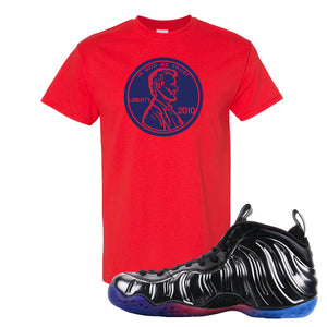 Air Foamposite One QS Gradient Soles T Shirt | Penny, Red